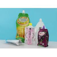 Laminated Stand Up Barrier Pouches With 22mm Spout Caps For Laundry Detergent Liquid Package for sale