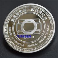 China 2019 new 999 sterling silver commemorative coins custom, corporate listing medals custom, customized listing souvenirs for sale