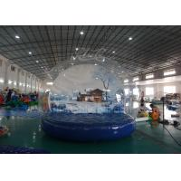 Cheap Outdoor Inflatable Advertising Balloons , 4 M Christmas Inflatable Snow Globe for sale
