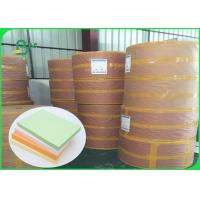 China FSC Pure Wood Pulp Colored Green Offset Printing Paper Color Designated 70CM 100CM for sale