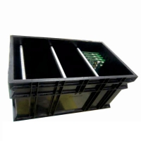 Buy cheap Black Conductive Glossy Lamination ESD Packing Box For Electronics from wholesalers