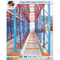 Wholesale High Density Warehouse Shuttle Pallet Racking with Durable Steel , Blue Red from china suppliers