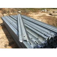 Wholesale Anti Aging W Beam Highway Safety Barriers For Railway / Bridge / Road 4320mm from china suppliers