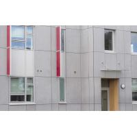 Wholesale Cellulose Exterior Fiber Cement Board , Light Grey Cement Sheet Wall Panels from china suppliers