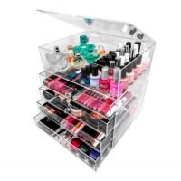 China acrylic cosmetic organizer makeup holder with 3 4 5 6 drawers for sale