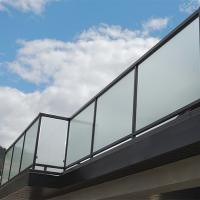 Wholesale Glass factory supply high quality decorative acid etched frosted glass fence panels from china suppliers