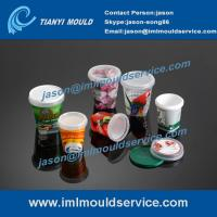 Wholesale 250g-1000g thin wall plastic packaging boxes mould, IML plastic cups with lids mould from china suppliers