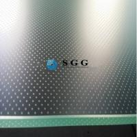 Wholesale Screen printing acid etched anti-slip floor glass on top anti slip glass staricase from china suppliers