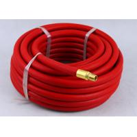 Red Rubber Air Hose with BSP Or NPT Fittings , Rubber Air Line BP 900 / 1200 Psi
