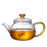 China High Borosilicate Tempered Glass Teapot , Blooming Transparent Tea Set for sale