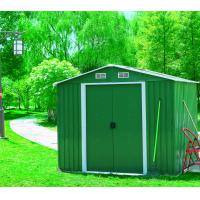 China Outdoor Steel Garden Sheds , Metal Outdoor Storage Sheds Resisting Fading on sale