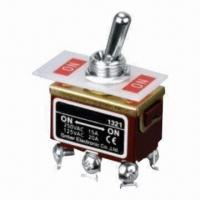 Wholesale 2-pole Throw Toggle Switch, DPDT and Sealed Sub-miniature, 6 Pins from china suppliers