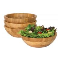 "Wholesale 4 Piece Bamboo Salad Set  7"" X 2.25"" More Endurable Than Porcelain Products from china suppliers"