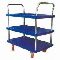 Wholesale 3-layer Platform Hand Trucks, Measures 800 x 500 x 970mm, with Double Side Handle from china suppliers