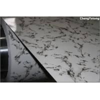 Stone Grain Galvannealed Steel Sheet , Counter Decoration Pre Coated Metal Sheets