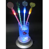 China PS, acrylic red, green, blue, yellow and multicolor flashing led novelties stirrer for Bar on sale