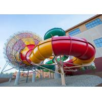 Fiberglass Tornado Water Slide Factory In China Outdoor Amusement Park Equipment