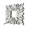 Square Glass Decorative Mirrors For Bathrooms, Sunburst Facet Wall Decor Mirrors for sale