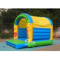 Wholesale 5x4 mts outdoor Let's party kids inflatable bouncy castle made with 610g/m2 pvc tarpaulin from china suppliers