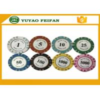 Wholesale 13.5 Gram Crown Monte Carlo Casino Poker Chips With Pantone Color 40x3.3mm from china suppliers