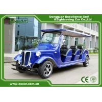 Elegant Blue Electric Classic Cars 6 Seater Electric Vintage Car for sale