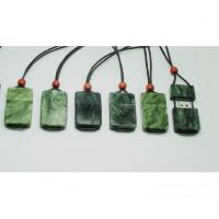 Customized USB flash drive in real jade stone material with logo attached string (MY-U270) for sale