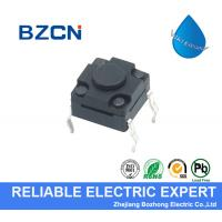 DIP Terminal Type Waterproof Tactile Switch Plastic Black Button 50mA Rating for sale