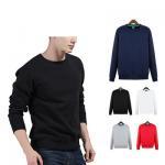 China Manufactur custom Logo plain Blank Red Sweatshirt Crew Neck men hoodies for sale
