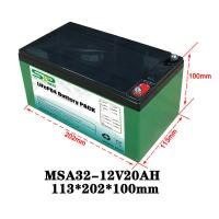 Wholesale 20Ah 12 Volt Lithium Battery Pack / Medical Equipment Batteries Large Capacity from china suppliers