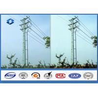 Cheap Q345 Hot dip galvanized Electrical Power Pole with 16M ~ 20M Height 470 ~ 630 Mpa Tensile Strength for sale