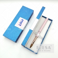 Wholesale Manicure Blue Nail Brush Tool Pen Custom Logo Packaging Gift Box from china suppliers
