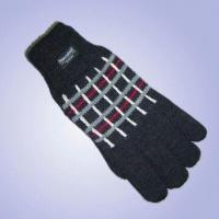 """Wholesale Men's Acrylic Jacquard Knitted Gloves with Thinsulateâ""""¢ Lining from china suppliers"""