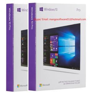 China 64 Bit Windows 10 Pro Retail Box Microsoft USB Flash Drive / COA Sticke / DVD OEM Package on sale