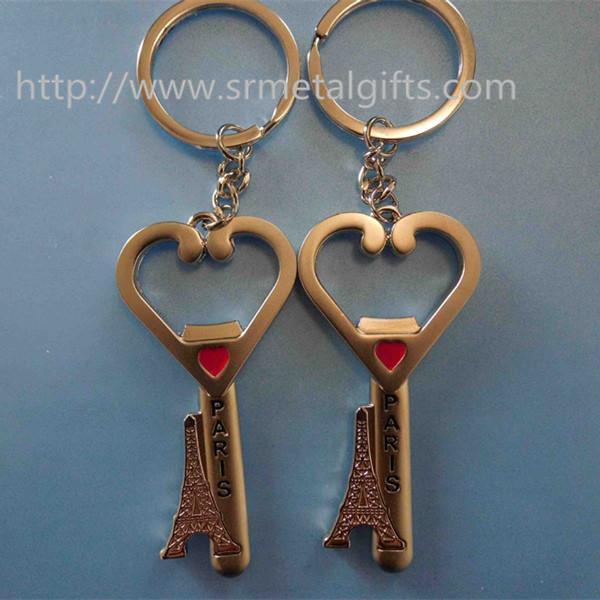 metal key drop charm to keyring