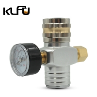 Buy cheap Aluminum 2000PSI Inlet Keg Mini CO2 Regulator 7/16-20UNF Outlet Thread from wholesalers