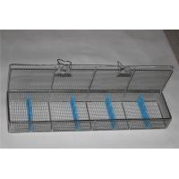 Endoscope Trays Surgical Instrument Sterilization Containers Stainless Steel Wire Mesh Basket for sale