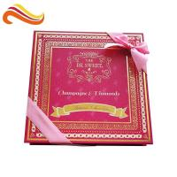 China Custom Retail Luxury Chocolate Packaging Boxes Logo Printed Paper With Ribbon for sale