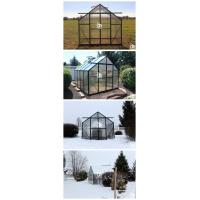 G-MORE Wholesales Traditional Series Aluminum Polycarbonate Hobby Greenhouse Aplication (9)