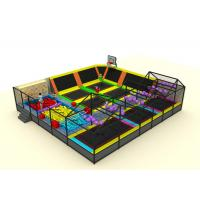 Quality Commercial Soft Play Trampoline , Galvanized Steel Pipe Big Trampoline Park for sale