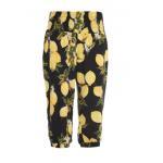 China Adult Summer Womens Leisure Shorts Lemon Printed Woven Fabric Custom Logo for sale