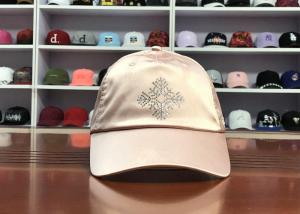 Wholesale Hot Sales ACE Unisex Adjustable Rhinestone Embroidery Logo Satin Fabric Soft Design Baseball Cap Curve Hat from china suppliers