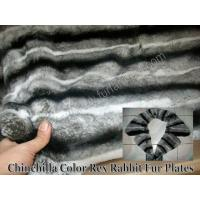 Wholesale Chinchilla Color Rex Rabbit Fur Plates from china suppliers