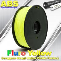 Wholesale High Precision Fluo - Yellow ABS 3D Printer Filament 1kg / Spool from china suppliers
