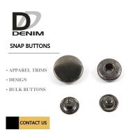Buy cheap Dark Antique Sliver Metal Snap Buttons for Jackets 4 Parts Flat Trims from wholesalers