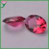 wholesale oval egg diamond cut rose colored glass semi-precious stone for sale