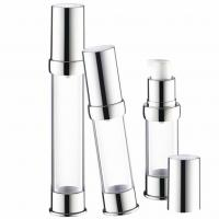 China Cosmetic Liquid Foundation Pump , Refillable Airless Lotion Pump Without Straw for sale