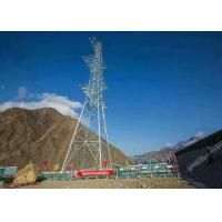 China Electricity Transmission Line Steel Towers , 10KV - 1000KV Steel Tube Tower for sale