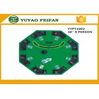 Wholesale 48 Inch 8 Person Poker Table MDF Casino Blackjack Poker Table Custom Poker Table Tops from china suppliers
