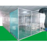 China ISO7 Softwall Clean Booth with anti-static PVC curtain materials on the main body,easy for installation for sale