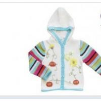 Wholesale Hooded Long Sleeve 100% Cotton and acrylic yarn Thick  Knitted Baby coat , Wear Sweaters from china suppliers